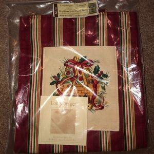 NWT Longaberger 2005 Holiday Tote Bag